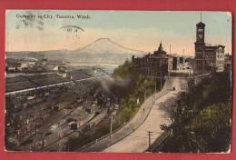 C0759 Tacoma, Trains. Circulé En 1910. - Tacoma