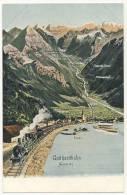 1521 - AK Gotthardbahn, Gotthardtunnel, Gotthard, Flueelen, Flüelen, Wassen, Gurtnellen, Eisenbahn, Ca.1915, Schweiz - UR Uri