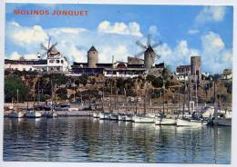 Espagne--PALMA DE MALLORCA--Moulins Jonquet (bateaux Au 1er Plan )-cpm N° 2  éd  TOMAS DE PEDRO----- - Palma De Mallorca