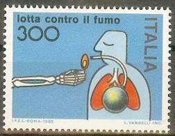 ITALIE 1982- Scott 1504- Lutte Contre Le Tabagisme - No Smoking - Lotta Contro Il Fumo - 1946-.. République