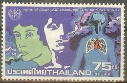 THAILANDE 1980 - Scott 916 - Lutte Contre Le Tabagisme - Smoking Or Health, The Choice Is Yours - Thaïlande