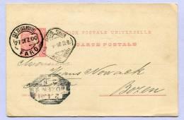 Postkarte Carte Postale Post Card FARO To BOZEN 1900  (831) - Postal Stationery