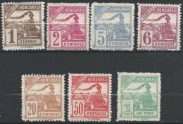 HONDURAS - Trains De 1898 - 7 Valeurs De La Série Neuves - Honduras