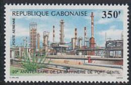 A0028 GABON 1988, SG1011 20th Anniv Port Gentil Oil Refinery  Mnh - Gabon