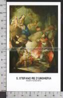 Xsa-10356 S. Santo STEFANO RE D'UNGHERIA KING ESTZERGOM Santino Holy Card - Religión & Esoterismo