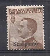 COLONIE ITALIANE SCARPANTO 1912 SOPRASTAMPATI SASS. 6 MNH VF - Aegean (Scarpanto)