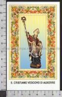 Xsa-10449 S. San CRISTIANO VESCOVO DI AUXERRE CHRETIEN DOUZY Santino Holy Card - Religión & Esoterismo