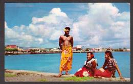 SO6) Samoa - Apai Waterfront - Attractive Youth & Maidens - Posted 1957 - Samoa
