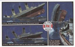 Le Titanic: Série De 6 Cartes 9 X 14 - Catastrophes