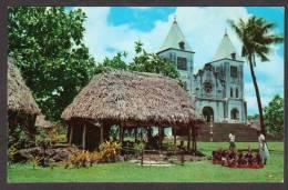 SO7) Samoa - Village Schoolhouse & Church - Samoa