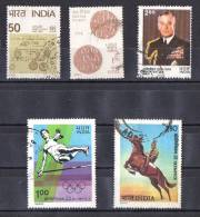 India 1980 Selected Issues Used - India80 Stamp Exhibition, Mountbatten, Olympics - India