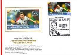 Table Tennis Austria Special Cancel 2003 - Tafeltennis