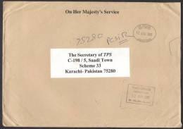 On Her Majesty's Service Big Cover From Jamestown St. Helena 12-8-2005 - Saint Helena Island