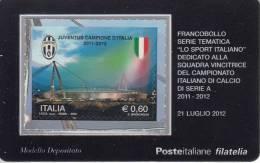 ITALIA 2012 - JUVENTUS CAMPIONE D'ITALIA 2011-2012 - Tessere Filateliche