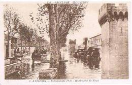 CPA - AVIGNON - INONDATIONS 1935 - BOULEVARD ST. ROCH - RARE - - Inondations