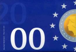 Pays-Bas Netherland Coffret Officiel BU 5 Cent à 5 Gulden 2000 Présentation De L'Euro KM SS84 - Pays-Bas