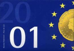 Pays-Bas Netherland Coffret Officiel BU 5 Cent à 5 Gulden 2001 Présentation De L´Euro KM SS90 - Pays-Bas
