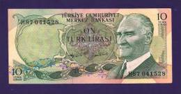 TURKEY 1970 Law,  Banknote, UNC,  10 Lira Km 122 - Turkey