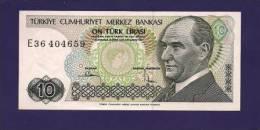 TURKEY 1970 Law,  Banknote, UNC,  10 Lira Km 130 - Turkije