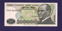 TURKEY 1970 Law,  Banknote, UNC,  10 Lira Km 130 - Turkey