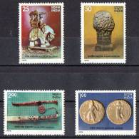 India 1978 Treasures From Indian Museums Set Of 4 MNH ** - India