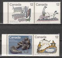 Canada 646 à 649 ** - 1952-.... Regno Di Elizabeth II