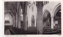 BARNET - THE FOUR AISLED PARISH CHURCH INTERIOR - London Suburbs