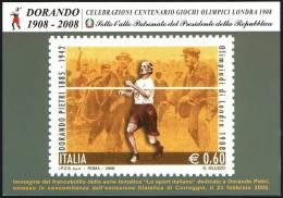 ATHLETICS / OLYMPIC - ITALIA CARPI (MO) 2008 - OLIMPIADI LONDRA 1908 - OMAGGIO A DORANDO PIETRI - C.U. - Summer 1908: London