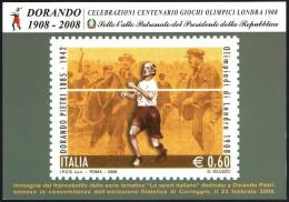 ATHLETICS / OLYMPIC - ITALIA CARPI (MO) 2008 - OLIMPIADI LONDRA 1908 - OMAGGIO A DORANDO PIETRI - C.U.