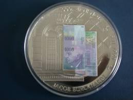 Medaille Suisse - 1000 Franken Banknote - Jacob Burckhardt- Erstausgabe 1998 - Jetons & Médailles