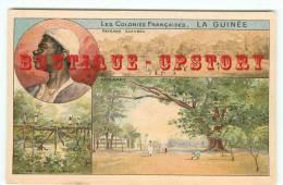GUINEE - Vue De Konakry + Pont De Lianes ( Bridge ) + Paysage - Dos Scanné - French Guinea