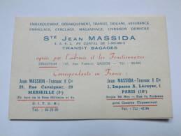 CARTE - DEPLIANT - SOCIETE MASSIDA - TRANSIT BAGAGES - CONVERSION MESURE ETC ... - ANNEE 60 - Non Classés