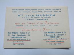 CARTE - DEPLIANT - SOCIETE MASSIDA - TRANSIT BAGAGES - CONVERSION MESURE ETC ... - ANNEE 60 - Transports