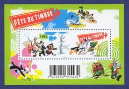 FRANCE BF Les Héros De LOONEY TUNES: Titi, Gros Minet, Bugs Bunny, Daffy Duck, Coyote, Bip Bip. Fête Du Timbre 2009.