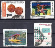 India 1977 Selected Issues Used - Asiana77, Children's Day, Travel Conference, Statistical Institute - India