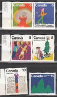 Canada 584 à 589 ** - 1952-.... Regno Di Elizabeth II