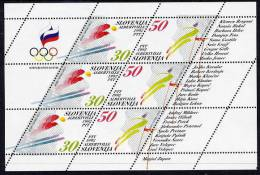 SLOVENIA 1992 Winter Olympics Sheetlet MNH / **.  Michel 6-7 - Slovenia