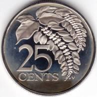 @Y@   TRINIDAD AND TOBAGO    UNC   1976   25 CENTS  (C1) - Trinité & Tobago