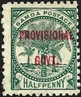 SAMOA 1/2 P GREEN PALM TREES O/P PROVISIONAL GOVT. 1899 MHD SG90 READ DESCRIPTION !! - Samoa