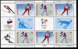 SLOVENIA 1998 Winter Olympics: Nagano  MNH / **.  Michel 217-18 - Winter 1998: Nagano