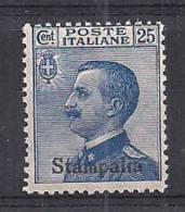 COLONIE ITALIANE 1916  STAMPALIA  SOPRASTAMPATI SASS. 5  MNH XF - Aegean (Stampalia)
