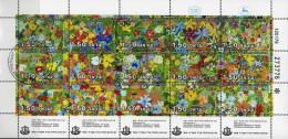 Gedenkwand Kinder-Zeichnung 1978 Israel 736/0 15-KB O 5€ Mit Blumen In Petah Tiqwa Bf History Bloc Flower Sheet Of Asia - Israel