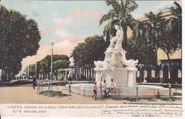 Cuba Habana Antigua Tarjeta Postal Parque De La India  Ca1900 Vintage Original Postcard Cpa Ak (W3_998) - Cuba