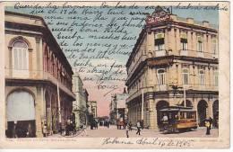 Cuba Habana Antigua Tarjeta Postal Avenida Zalueta Tramway Ca1900 Vintage Original Postcard Cpa Ak (W3_1001) - Cuba