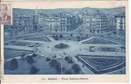 Spain Bilbao Tarjeta Postal Ca1949 Vintage Original Postcard Air Mail Used (W3_1011) - Vizcaya (Bilbao)