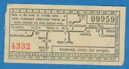 D372 / Tickets Billets -  TRAMWAY Trams In Zagreb - Croatia Croatie Kroatien - Tramways