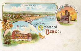 Gruss Aus Binz A/R 1898 Postcard - Rügen