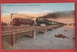 C0763 Causeway Entering Galveston FromHouston, Train,railway. Non Circulé. No 7311 - Houston