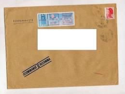 Lettre Recommandee Cachet Nantes Bellevue - Marcophilie (Lettres)