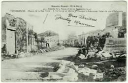 CPA Guerre 1914-18 Bataille De La Marne 55800 VASSINCOURT 55 Entrée Rue Haute Lieutenant Julien Labat 112e RI Toulon WW1 - Frankreich